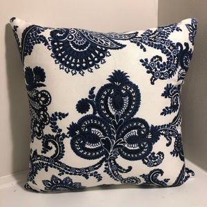 Two Navy + White Patterned Pillow Cases